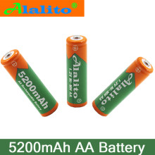6/8/10pcs 1.2V 5200mAh NI MH AA Pre-Charged Rechargeable Batteries Ni-MH Rechargeable aa Battery For Microphone Toys Camera led(China)
