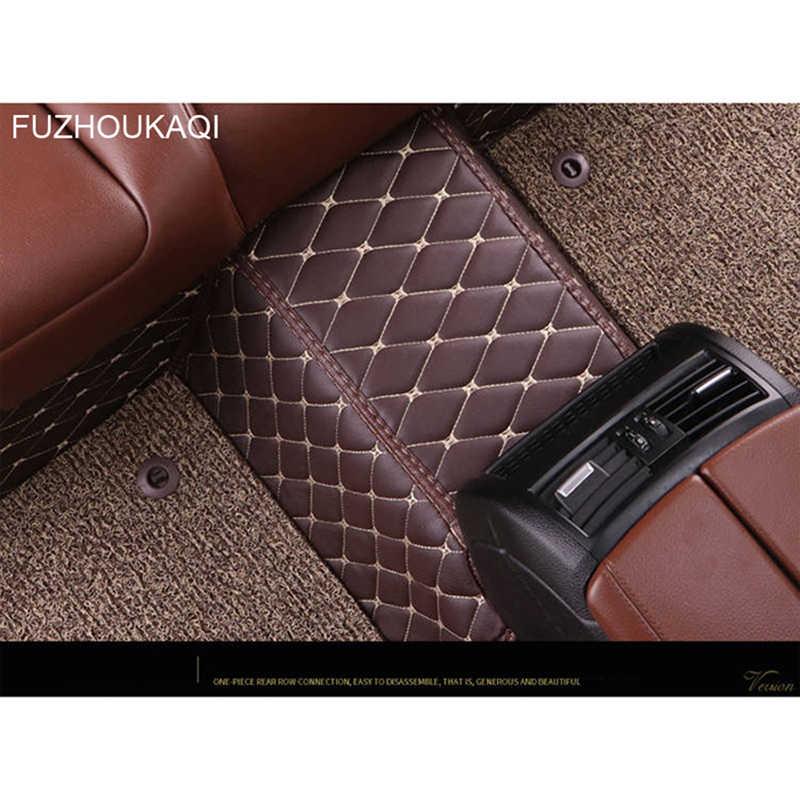 CUSTOM Car mats ชั้น 2 ชั้นเสื่อเท้าสำหรับ Fiat ทั้งหมดรุ่น Bravo Freemont 500 รถจัดแต่งทรงผมรถอุปกรณ์เสริม