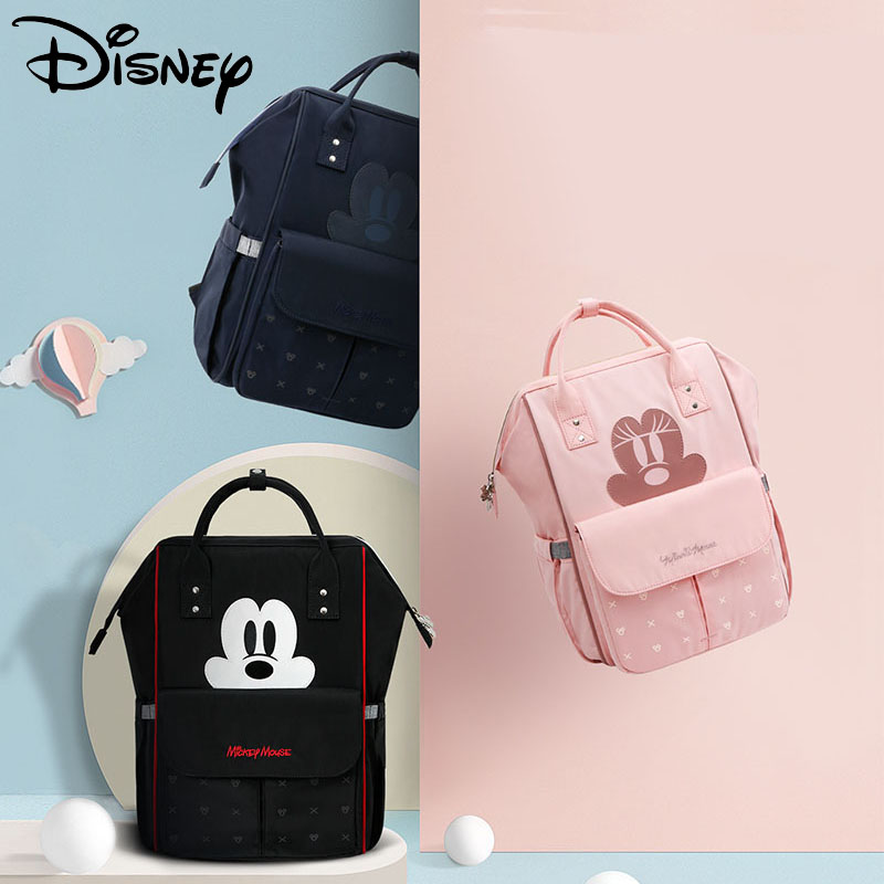 Pre-design New USB Diaper Bag Waterproof Baby Bag Stroller Maternity Bag Big Large Capacity Changing Bag Baby Cute Mickey Minnie
