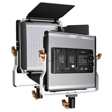 Neewer Dimmable bi-color 500 LED Luz de vídeo con Barndoor, U soporte y bolsa de transporte para estudio, fotografía de vídeo al aire libre de YouTube(China)