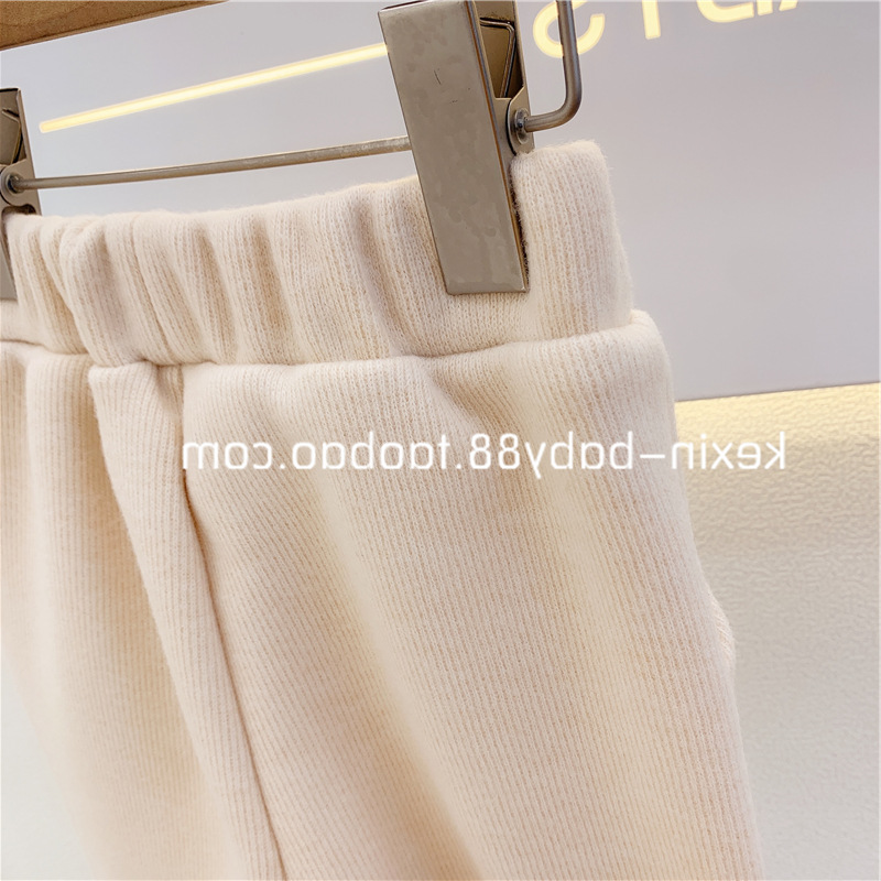 2021 Autumn New Arrival Girls Fashion Knitted Pants Kids Casual Trousers  Kids Pants 5
