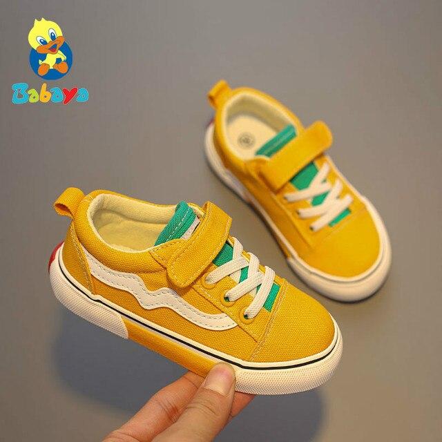2019 قماش الأطفال أحذية رياضية تنفس الفتيان أحذية رياضية ماركة الاطفال أحذية للبنات الجينز الدنيم الطفل عادية حذاء قماش مسطح