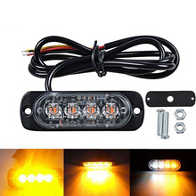 цена на Strobe Light For Car Truck Vehicle Motorcycle LED Flashing Light Polices Warning Emergency Light Waterproof