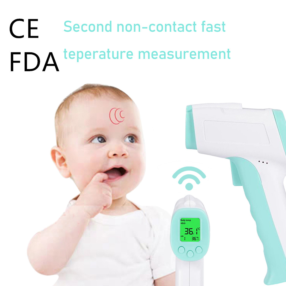 Instock! Infrared Forehead Body Thermometer Baby Adult Digital Thermometer Gun Non-contact Body Temperature Measurement Meter
