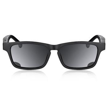 أسود K1 نظارات ذكية بلوتوث 5.0 دعوة الاستماع الموسيقى الموجهة المفتوحة الاستقطاب النظارات الشمسية الإطار الأسود عدسة سوداء مكبرة