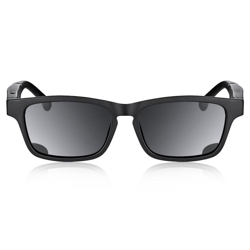 Black K1 Smart Glasses Bluetooth 5.0 Call Listening Music Oriented Open Polarized Sun Sunglasses Black Frame Black Lens Sunglass