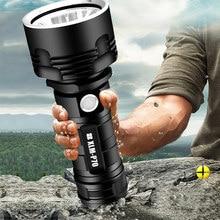 YB007 XHP70 Super mocna latarka LED XM-L2 latarka taktyczna USB akumulator Linterna wodoodporna lampa Ultra jasny latarnia