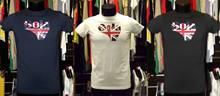 Desconto 50 gola t camisa camisa union jack escrita inglês bandeira t camisa