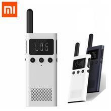 Обновленная версия Xiaomi Mijia Smart Walkie Talkie 1S с FM радио, динамиком, режимом ожидания, приложением для смартфона, быстрой командной связью