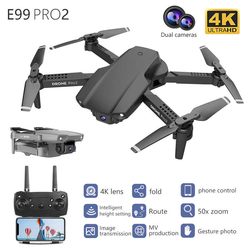 Lskj E99 Pro2 Rc Mini Drone 4K Hd Dual Camera Wifi Fpv Professionele Luchtfotografie Helikopter Opvouwbare Quadcopter Dron speelgoed