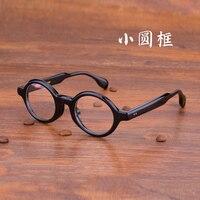 Zerosun Vintage Eyeglasses Frame Men Women Round Acetate Black Glasses Man Nerd Tortoise Brand Quality Eyeglass for Prescription