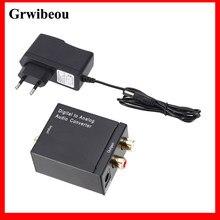 Grwibeou RCA R/L cyfrowy na analogowy konwerter Audio koncentryczny na analogowy Adapter wyjście DAC Aamplifier optyczny dźwięk cyfrowy SPDIF
