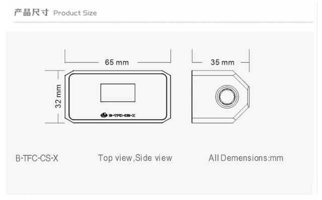 Bykski Computer Water Cooling Alarm,Digital OLED Display, Temperature + Flow + Flow Rate 3 In 1 Monitor System, B-TFC-CS-X 6
