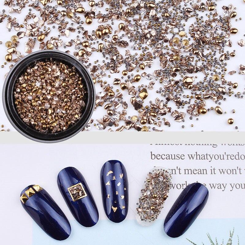 DIY Natural Nail Art Decoration Irregular Thin Nail Art Zircon Micro Diamond Crystal Sand Nail Particle Crushed Gel Accessories