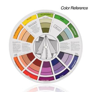 12 Color Professional Tattoo Nail Pigment Wheel Paper Card Three-tier Design Mix Guide Round The Central Circle Rotates