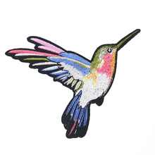 2PCS Large Magpie Animal Patches Embroidery Applique for Clo