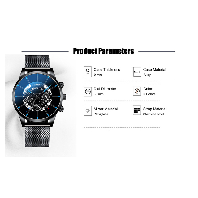 2020 Hollow Men's Watch Fashion Ultra Thin Watches Date Men Business Stainless Steel Mesh Belt Quartz Watch Relogio Masculino 1