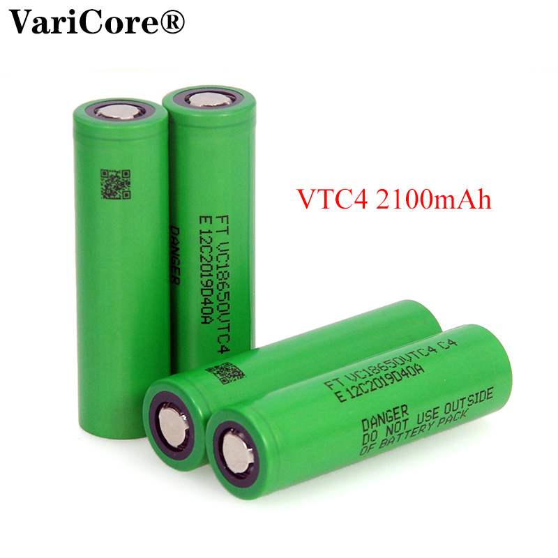 VariCore 100% Original 3.6V 18650 VTC4 2100mAh High drain 30A battery VC18650VTC4 Electronic cigarettes
