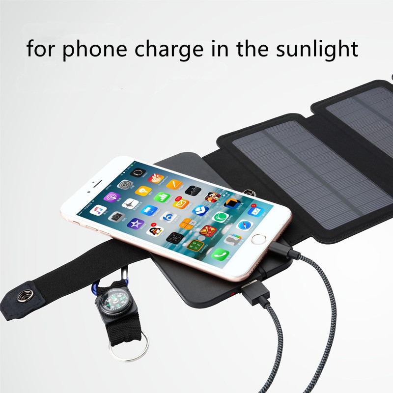 Folding 10W Solar Cells Charger 5V 2.1A USB Cellphones & Telecommunications Mobile Phone Accessories Solar Panel Chargers