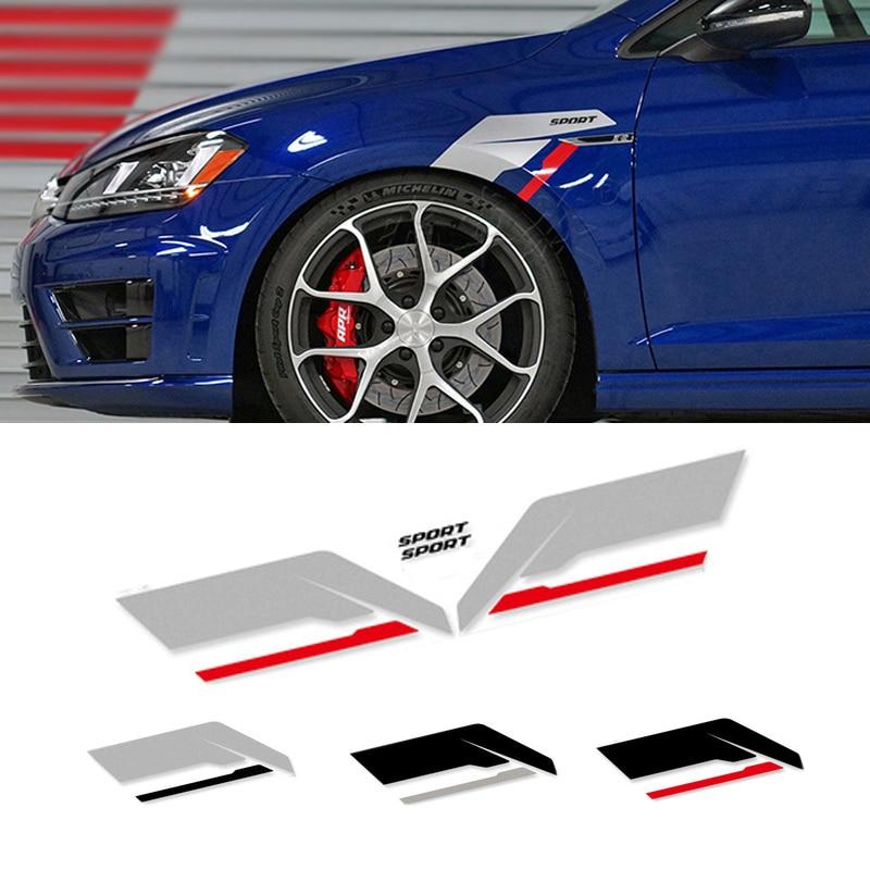 Гонки боковина крыла виниловая наклейка, стикер Графика для Audi A4 RS4 A3 RS3 A5 A6 Q3 Q5 Q7 TT Golf 6 7 BMW