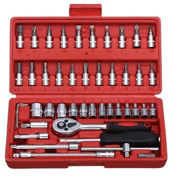 46 sztuk klucz kombinowany ze stali wysokowęglowej zestaw klucz klucz nasadowy śrubokręt gospodarstwa domowego motocykl narzędzia do naprawy samochodu tanie i dobre opinie VODOOL CN (pochodzenie) Repairing Kit High-carbon steel As picture shows Approx 14mm 1 5 2 0 2 5MM