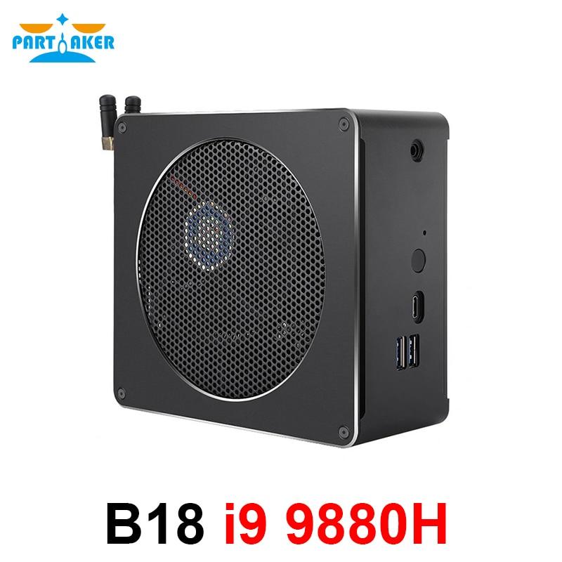 Игровой Мини ПК i9-9880H 8 ядер 16 ниток 2 * DDR4 2666 МГц 2 * M.2 Nuc Windows 10 Pro Linux настольный компьютер AC Wifi DP HDMI