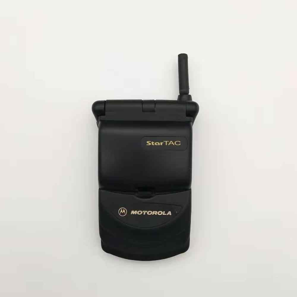 Hot sale Old Fashion Original Unlocked Motorola StarTAC Rainbow Flip GSM Mobile Phone With Multi-language Free shipping