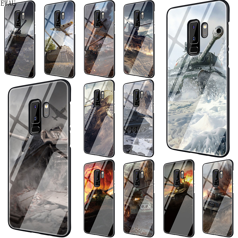 EWAU World of tanks Tempered Glass phone case for Samsung S7 Edge S8 S9 S10 Note 8 9 10 Plus A10 20 30 <font><b>40</b></font> <font><b>50</b></font> <font><b>60</b></font> 70 image