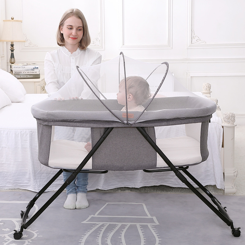 Foldable Portable Crib Bed Cradle Newborn Baby Crib Multifunction Appease Bed Newborn Bassinet Baby Cot 0-36month