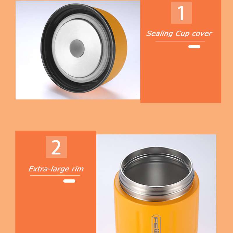 FEIJIAN Food Thermos, Food Jar, Business Portable Thermos Boxes, Insulated Lunch Box, 500ML, Stainless Steel Container 5