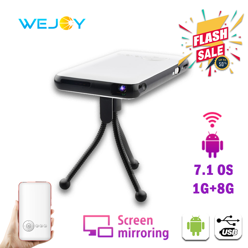 Wejoy DL-S6 Mini Smart projecteur à LED portable DLP Android Pico poche cinéma Mobile Projetor pour