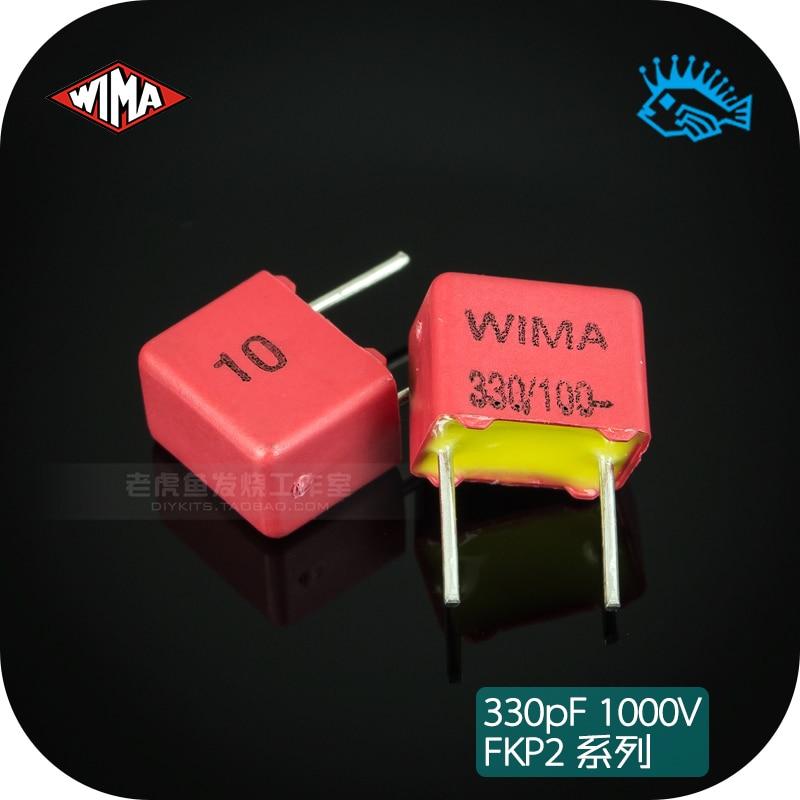 5pcs/50pcs 330pF 100V FKP2 Series Germany WIMA 331/n33 Original Brand New Fever Audio Capacitor