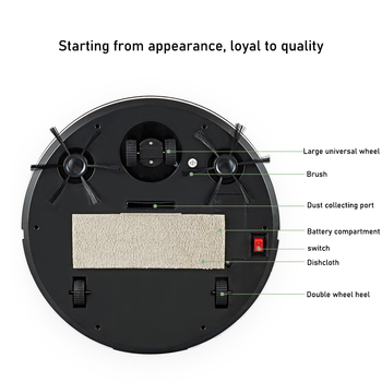 Smart Robot Vacuum Cleaner Household Multifunctional 3-in-1 Cleaning Appliances Wireless Automatic Vacuum Cleaner 4