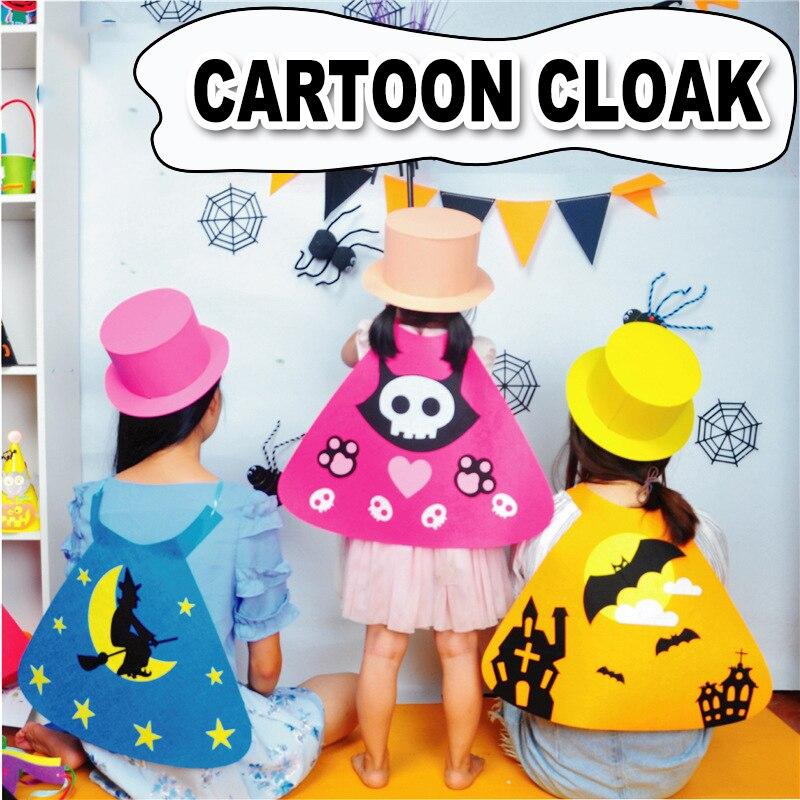 Kindergarten Lots Arts Crafts Diy Toys Kids Cartoon Cloak Crafts Kids Educational For Children's Toys Girl/boy Gift 16918