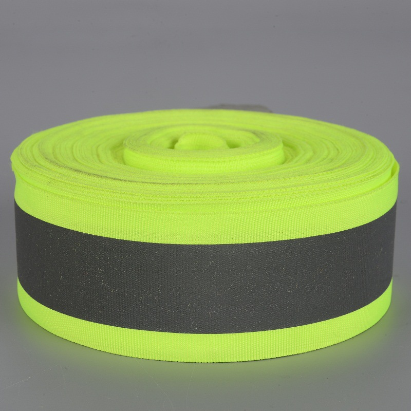 Factory Highlight Heat Pack Reflective Woven Tape Satin Thermal Paste Reflective Clothes With Car Sewn-Shaped Environmentally Fr
