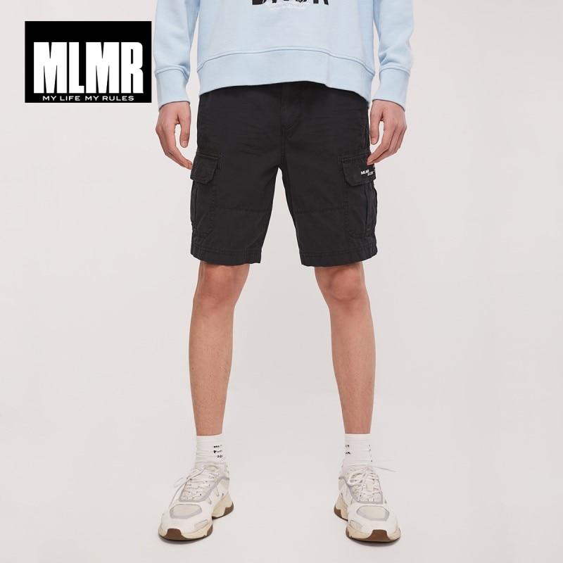JackJones MLMR Men's 100% Cotton Streetwear Colored Straight Fit Multiple Pockets Shorts| 219115517