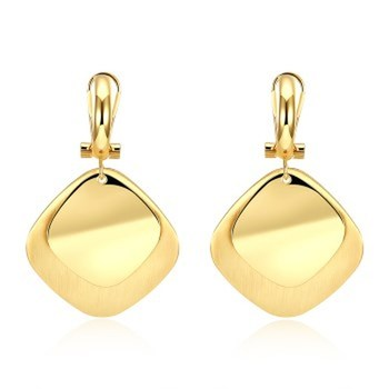K gold zircon earrings Square romantic wind lady earrings gold earrings fashion earrings korean earrings 2021 image