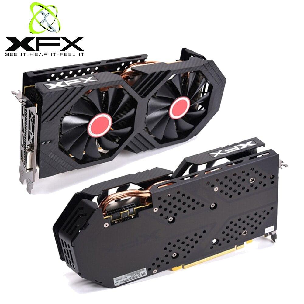 XFX AMD Radeon RX580 4GB GDDR5 Video Karte AMD GPU RX 580 4GB PC Gaming Grafiken Karten Desktop gamer Video Karte Verwendet Video Karten