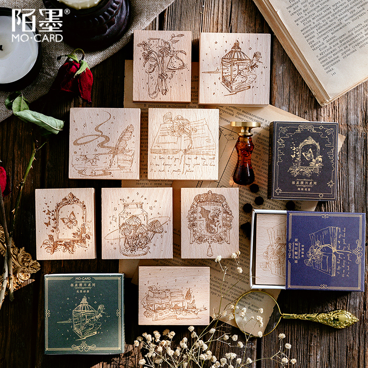 Butterfly Window Series Decoration Stamp Wooden Rubber Stamps For Scrapbooking Stationery DIY Craft Standard Seal