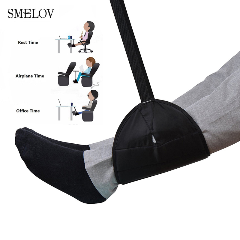 portable foot hammock Leg Hammock memory foam comfy hanger travel airplane footrest hammock home office travel foot rest hammock image