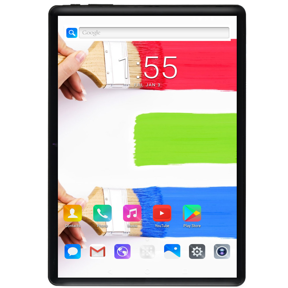 Newest 10 Inch Tablet Android 9.0 Octa Core 6GB RAM 128GB ROM 3G 4G FDD LTE Wifi Bluetooth GPS Phone Call Glass Screen Tablet Pc