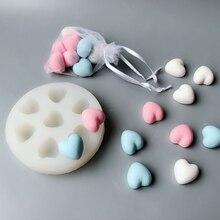 Форма для мыла в форме сердца силиконовая форма «сделай сам» пластырь для ароматерапии формы для изготовления свечей кулон ювелирные изделия ручной работы