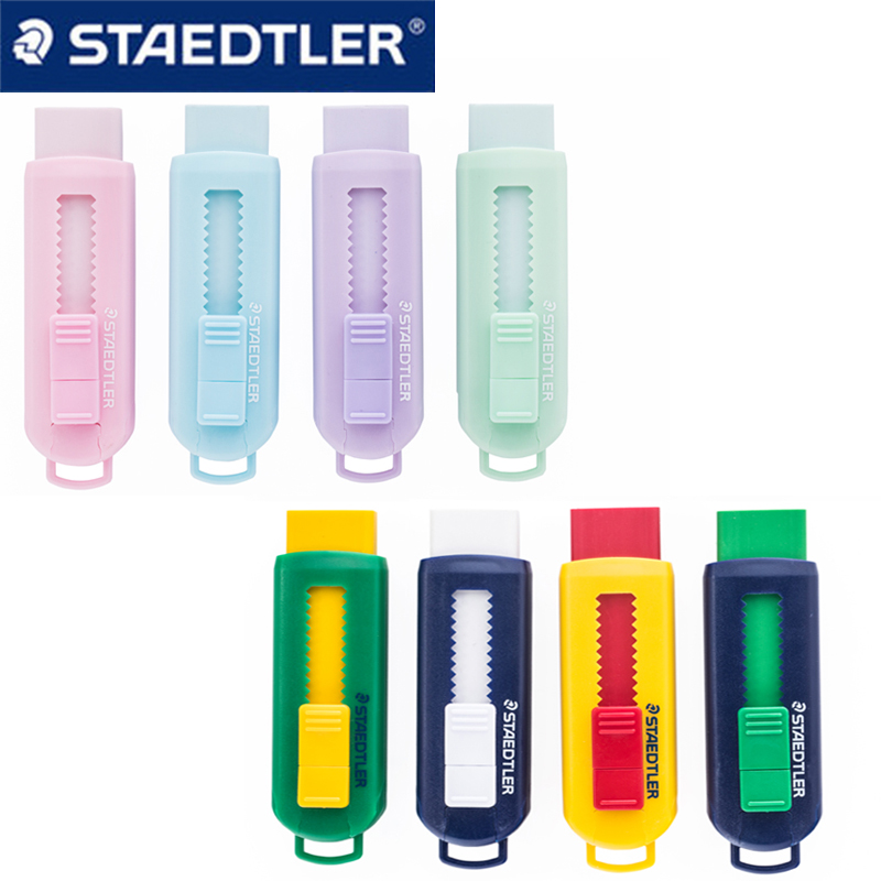 1pcs STAEDTLER Eraser 525 PS1S Wipe Clean Without PVC Telescopic Pushable Color Macaron Eraser Safety And Environmental
