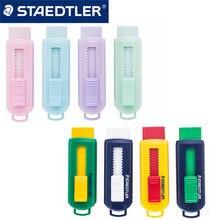 1 pces staedtler borracha 525 ps1s limpar sem pvc telescópico pushable cor macaron borracha segurança e ambiental