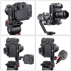 Image 5 - العالمي DSLR كاميرا L قوس الرأسي الأفقي التبديل ترايبود رئيس الإفراج السريع لوحة Arca السويسري متوافق مع كانون