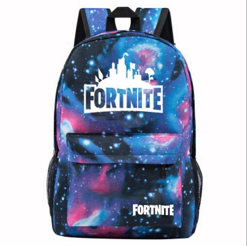 Fortnite Game Mobilefortress Night Backpack Starry Bag Men's And Women's Student School Bag Travel Bag
