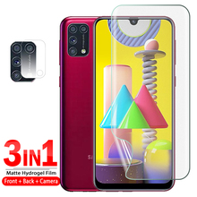 3in1 full cover Matte screen protector for samsung galaxy m31 m31s m21 Hydrogel Film Safety Phone for m31 s m 31 s m 21 No glass