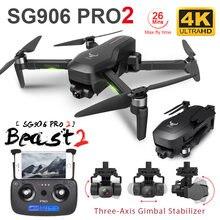 Zlrc besta sg906 pro 2 motor sem escova com 3 eixos cardan gps 5g wifi fpv profissional 4k câmera rc zangão quadcopter dron pro2