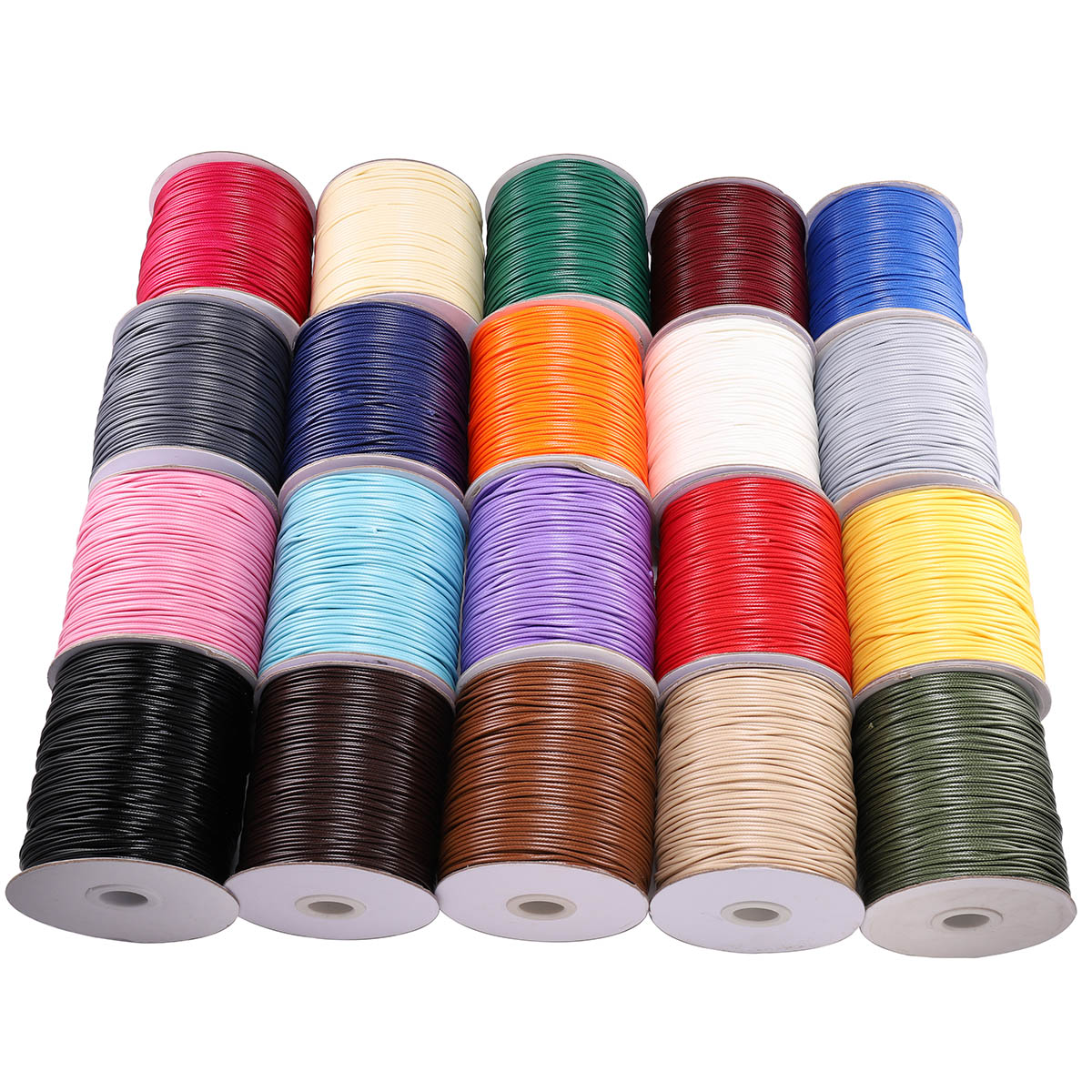 10m/lot 22 Color Leather Line Waxed Cord Cotton Thread String Strap Necklace Rope For Jewelry Making DIY Bracelet Supplies