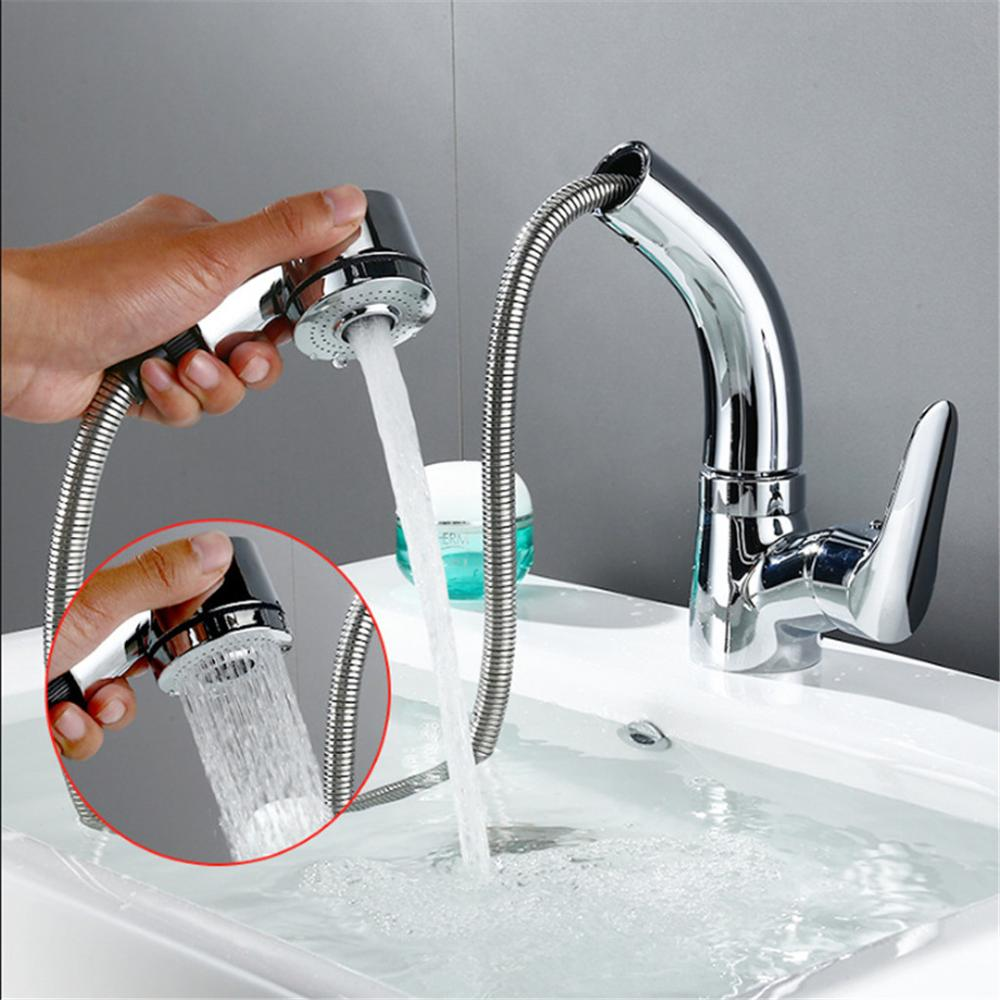 Robinet d'évier coulissant réglable en hauteur cuisine lave-vaisselle Table à linge lave-vaisselle levage et tirant robinet A1